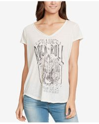William Rast - White Rock & Roll Graphic T-shirt - Lyst
