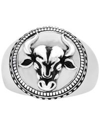 Effy Collection - Metallic Textured Disc Bull Ring In Sterling Silver - Lyst