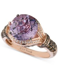 Le Vian - Pink Amethyst (3 Ct. T.w.) And Diamond (1/2 Ct. T.w.) Ring In 14k Rose Gold - Lyst