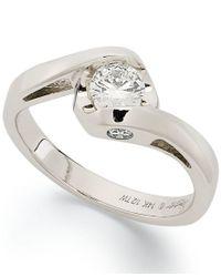 Sirena - Metallic Diamond Engagement Ring In 14k White Gold (1/2 Ct. T.w.) - Lyst