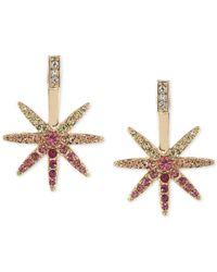ABS By Allen Schwartz - Metallic Gold-tone Crystal Ombré Star Stud Earrings - Lyst