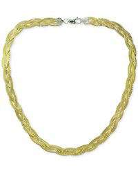 Giani Bernini - Metallic Two-tone Braided Collar Necklace In 18k Gold-plated Sterling Silver - Lyst