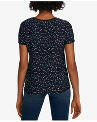Tommy Hilfiger - Blue Crochet-trim T-shirt, Created For Macy's - Lyst