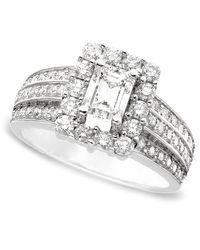 Macy's - Gray 14k White Gold Certified Diamond Ring (1-3/4 Ct. T.w.) - Lyst