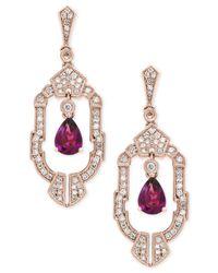 Effy Collection - Metallic Rhodolite Garnet (1-1/2 Ct. T.w.) And Diamond (1/2 Ct. T.w.) Earrings In 14k Rose Gold - Lyst