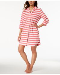 Charter Club - Pink Snap Front Terry Robe, Created For Macy's - Lyst