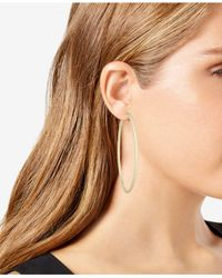 INC International Concepts - Metallic Large Textured Hoop Earrings - Lyst