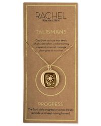 RACHEL Rachel Roy - Metallic Gold-tone Talisman Sun Pendant Necklace - Lyst
