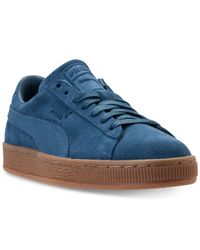 PUMA - Blue Men's Suede Classic Natural Warmth Casual Sneakers From Finish Line for Men - Lyst
