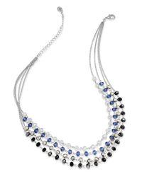 INC International Concepts | Multicolor Necklace, Silver-tone Multi-color Bead Four-row Necklace | Lyst