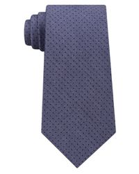 Michael Kors - Blue Men's Pin Dot Melange Silk Tie for Men - Lyst