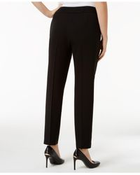 Nine West - Black Straight-leg Ankle Pants - Lyst