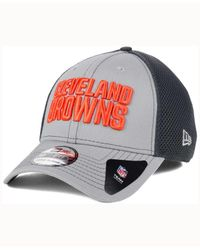KTZ Cleveland Browns Grayed Out Neo 39thirty Cap for men