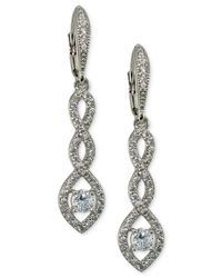 Giani Bernini - Metallic Cubic Zirconia Pavé Twist Drop Earrings In Sterling Silver - Lyst