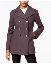 Kenneth Cole - Purple Double-breasted Peacoat - Lyst