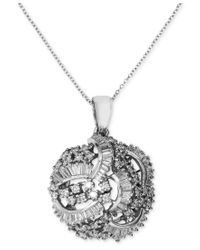 Effy Collection - Metallic Diamond Swirl Pendant (1-1/2 Ct. T.w.) In 14k White Gold - Lyst