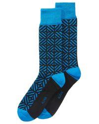 Alfani - Blue Geometric Dress Socks, Created For Macy's for Men - Lyst