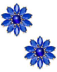 Kate Spade - Blue Flower Stud Earrings - Lyst