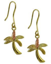 Giani Bernini | Metallic Palm Tree Drop Earrings | Lyst