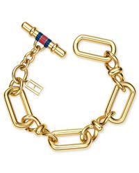 Tommy Hilfiger - Metallic Gold-tone Infinity Link Bracelet - Lyst