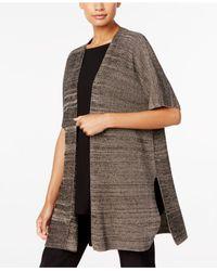 Eileen Fisher | Multicolor Melange Kimono Cardigan | Lyst