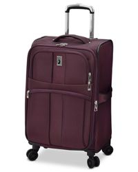 """London Fog - Purple Langley 21"""" Carry-on Spinner Suitcase for Men - Lyst"""