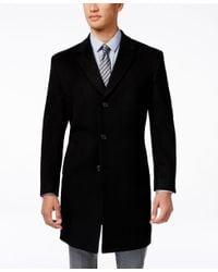 Kenneth cole reaction Wool Blend Car Coat in Black for Men | Lyst