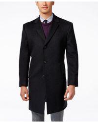 Kenneth Cole Reaction   Gray Raburn Wool-blend Over Coat Slim-fit for Men   Lyst