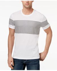 INC International Concepts - White Men's Introspection Striped T-shirt for Men - Lyst