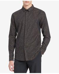 Calvin Klein - Black Men's Printed Shirt for Men - Lyst