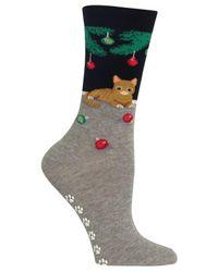 Hot Sox | Black Women's Tree Cat Non-skid Socks for Men | Lyst