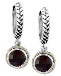 Effy Collection | Metallic Garnet Drop Earrings (4-3/4 Ct. T.w.) In Sterling Silver And 18k Gold | Lyst