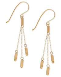 Macy's - Metallic Hexagon Bar Drop Earrings In 14k Gold - Lyst