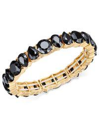Charter Club - Black Gold-tone Jet Stone Stretch Bracelet - Lyst