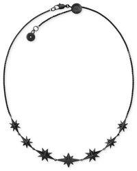 Michael Kors - Black Ion-plated Starburst Pavé Choker Necklace - Lyst
