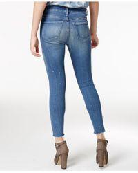 William Rast - Blue Cropped Midnight Twill Wash Skinny Jeans - Lyst