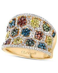 Le Vian - Multicolor Mixberrytm Diamond Concave Ring (1-3/8 Ct. T.w.) In 14k Honey Goldtm - Lyst