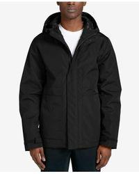 DKNY - Black Men's Mid-length Hooded Raincoat for Men - Lyst