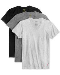 Polo Ralph Lauren - Black Polo By Ralph Lauren Classic Cotton V-neck, 3-pack for Men - Lyst