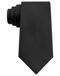 Geoffrey Beene - Black Bias Stripe Solid Tie for Men - Lyst