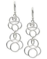 Giani Bernini   Metallic Circular Drop Earrings In Sterling Silver   Lyst
