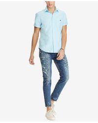 Polo Ralph Lauren - Blue Classic Fit Oxford Shirt for Men - Lyst