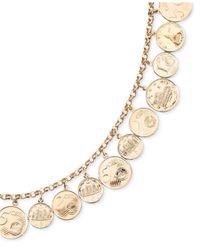 Macy's   Metallic Euro Coin Charm Bracelet In 14k Gold Vermeil   Lyst