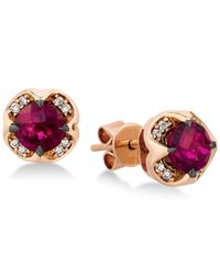 Le Vian | Multicolor Rhodolite Garnet (1-1/3 Ct. T.w.) And Diamond Accent Stud Earrings In 14k Rose Gold | Lyst