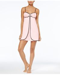 Kate Spade | Pink Contrast-trimmed Bow Chemise | Lyst