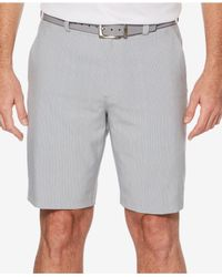 PGA TOUR Gray 10'' Striped Shorts for men