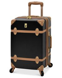 """London Fog - Multicolor Retro 20"""" Carry On Expandable Spinner Suitcase for Men - Lyst"""