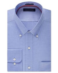 Tommy Hilfiger - Blue Men's Classic-fit Non-iron Solid Dress Shirt for Men - Lyst