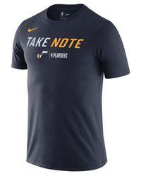 317666b75 Nike Utah Jazz Playoff Mantra Legend T-shirt in Blue for Men - Lyst