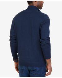 Nautica - Blue Big & Tall Quarter-zip Pullover Sweater for Men - Lyst